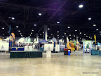 My view of the Expo area from my race packet pick up position, before the runners arrived.