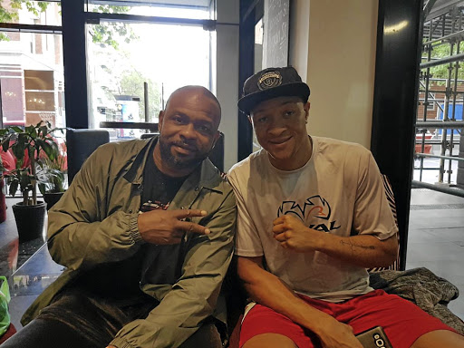 Retired world boxing champion and now trainer Roy Jones jnr, left, and his charge Isaac Chilemba in Australia, where Chilemba will take on Blake Caparello for both the WBC International and WBA Oceanian light heavyweights titles on Friday.