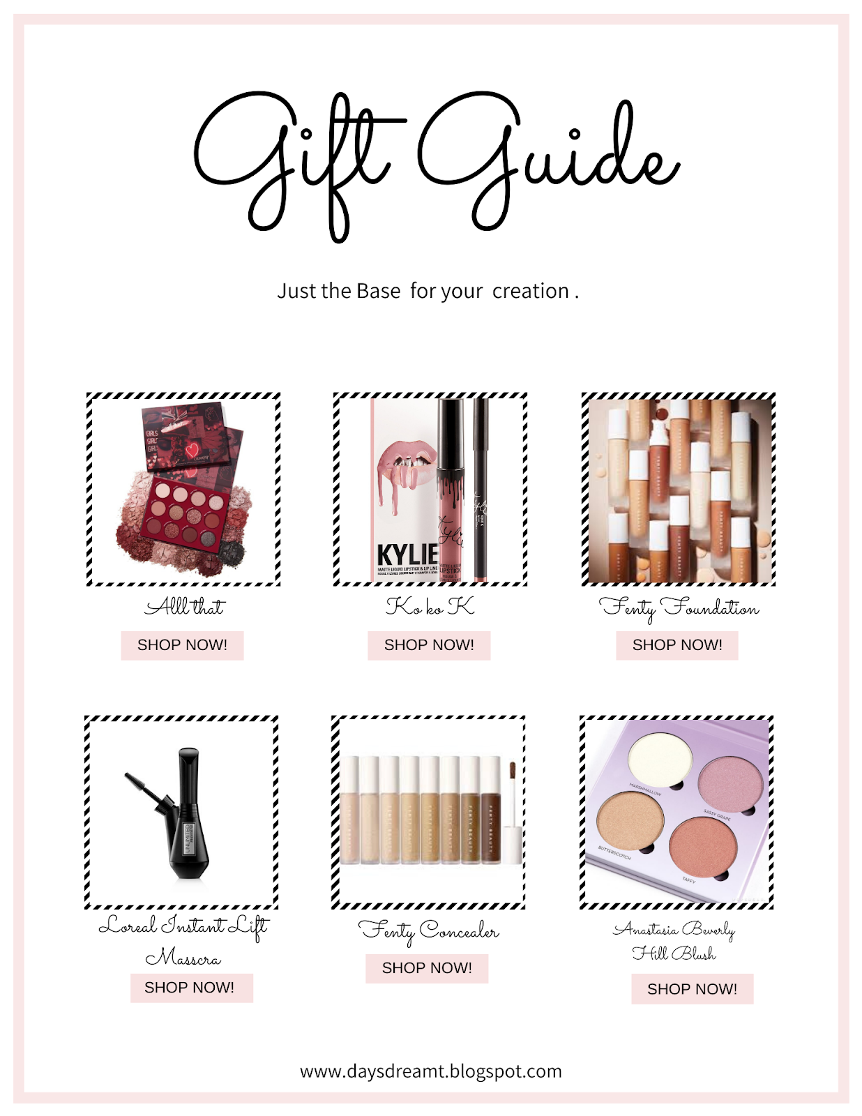 Beauty Valentines day gift guide listing