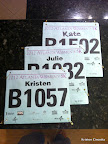 Running bibs of the #RunningBadasses2012, ready to go before the race!