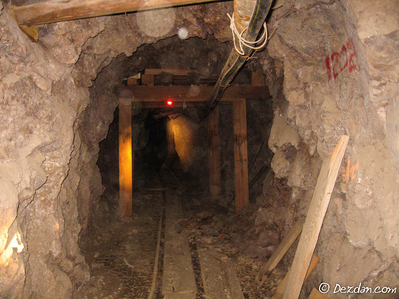 The majority of this mine has a more modern aspect.