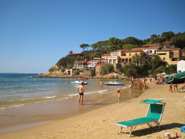 View from Biodola towards Scaglieri beach in early September