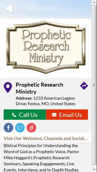 Prophetic Research Ministry- screenshot