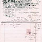 Hillen, A. Sigaren en tabaksfabriek N.V .- Delft -  factuur 3 januari 1919