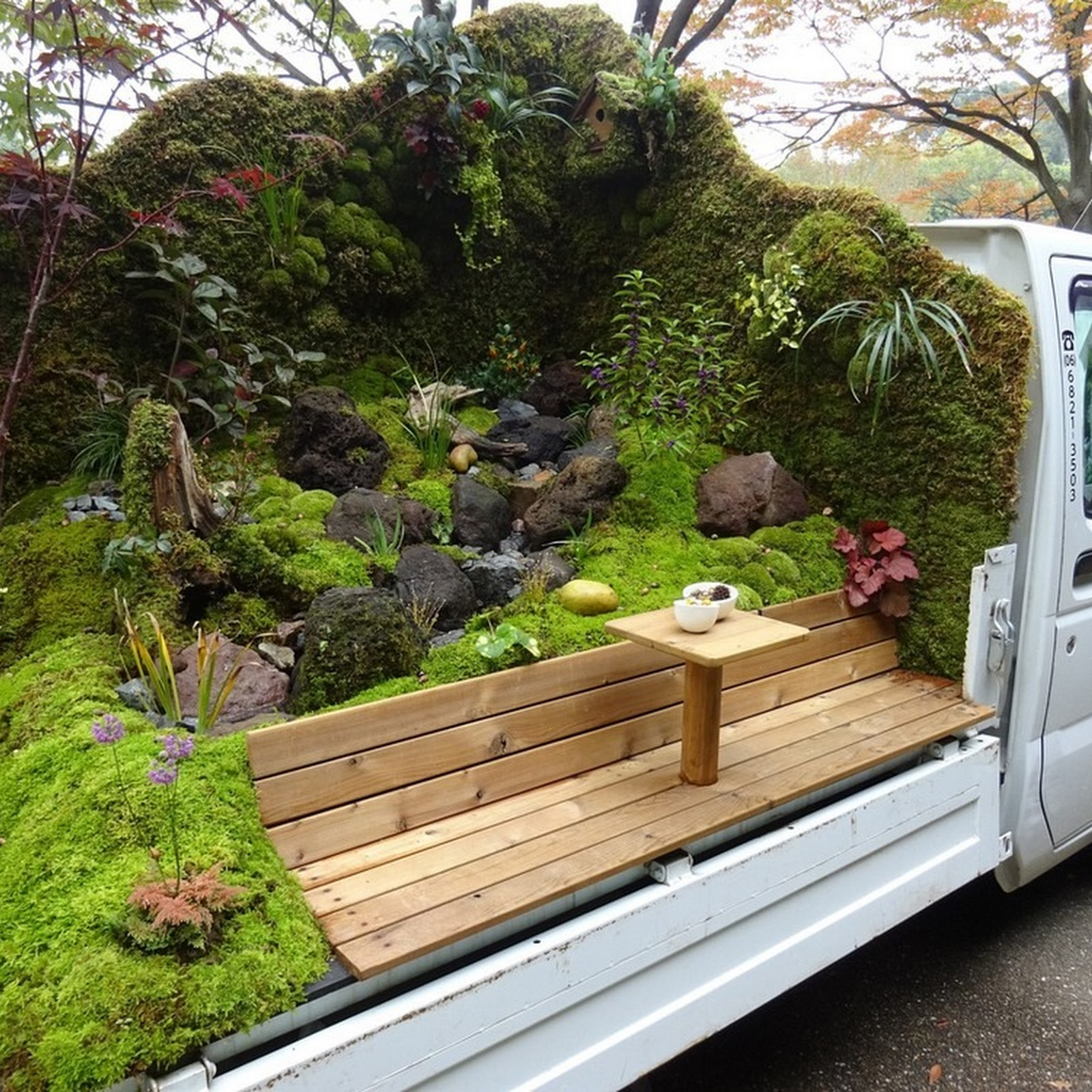 Landscaping In The Back Of Japanese Mini Pickup Trucks