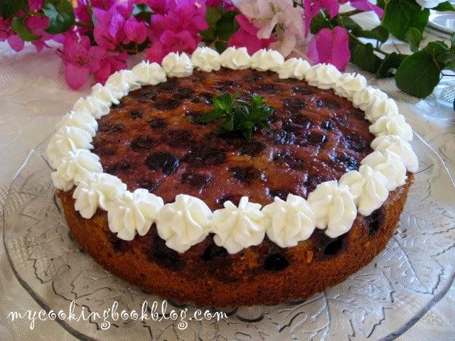 Обърнат кейк с череши