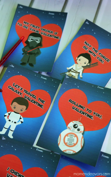 Force Awakens Printable Valentine