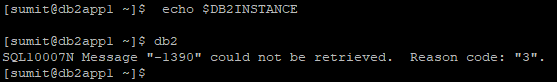 SQL10007 Reason Code 3 error