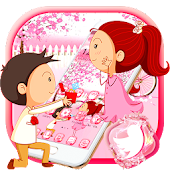 Pink Love Couple Theme Android APK Download Free By Theme Skin Emoji Andriod