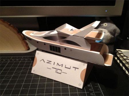 Azimut Yacht Papercraft