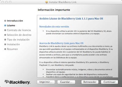 Conectar BlackBerry Z10 a Mac OSX