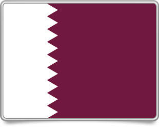 Qatari framed flag icons with box shadow