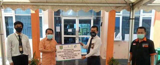 Berdayakan UMKM, Bank Kalsel Sumbang 6.250 Masker ke Tanbu