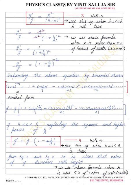 Gravitation Class 11