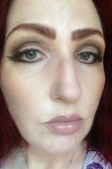 wearing lights, camera, lashes longwearing liquid eyeliner in deep brown