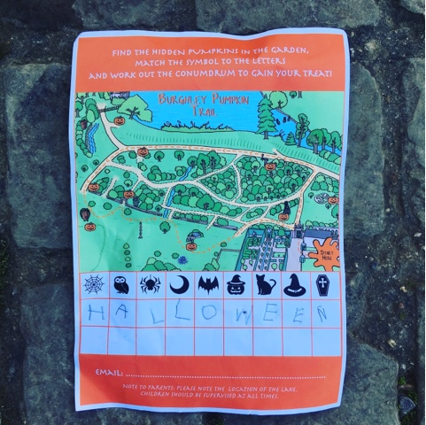 Visiting a Halloween trail at Burghley House