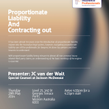 WA YIPs Seminar - Proportionate Liability and Contracting Out
