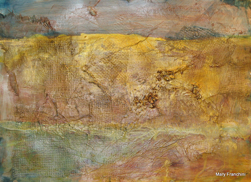 """Gold Landscape"" Collage"