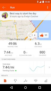 Strava Running and Cycling GPS Screenshot