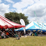 Colorful tents on the event grounds