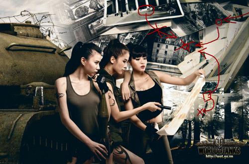 Siêu mẫu Thái Hà gợi cảm trong bộ ảnh World of Tanks 10