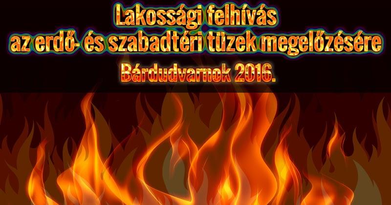 Fokozottabb figyelmet kell fordítani a szabadban keletkező tüzek megelőzésére. A veszélyt a száraz aljnövényzet és avar jelenti.
