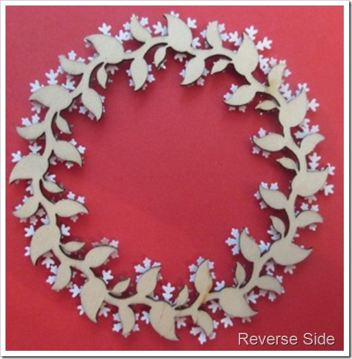 snowflake wreath christmas tree decoration