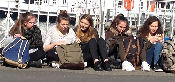 Austausch-Schülerinnen aus Bayreuth mit der Partnerstadt Annecy in Genf