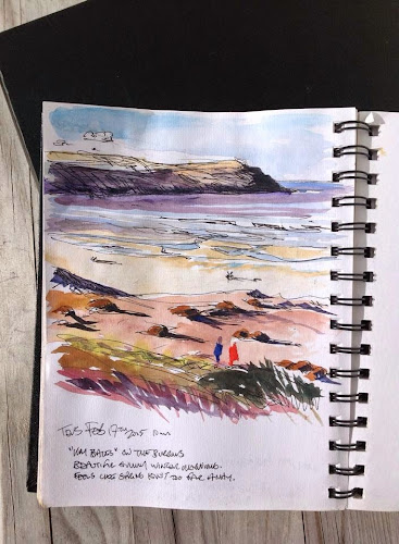Woolacombe watercolour paintings by Steve PP