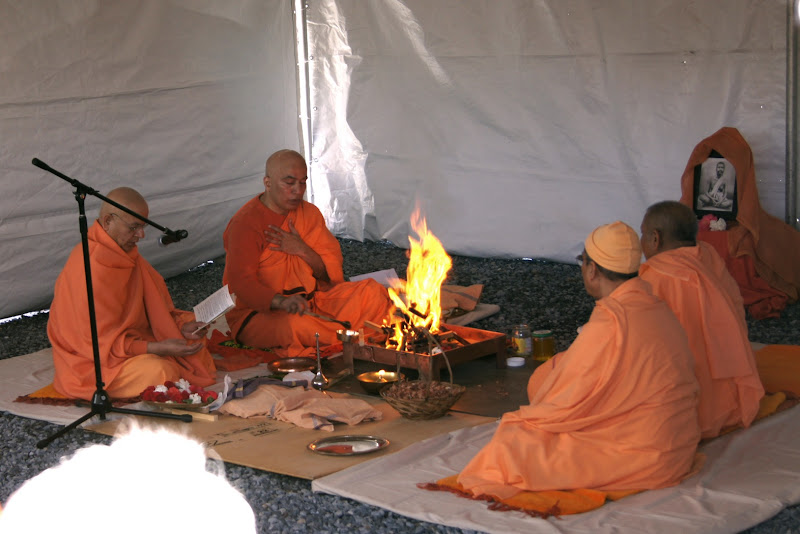 Day 2 Homa in the tent