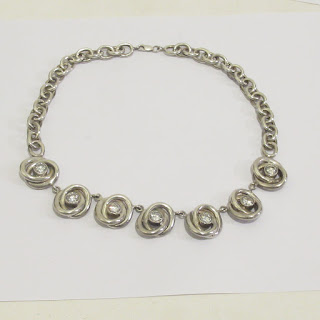 Sterling Silver and Crystal Necklace