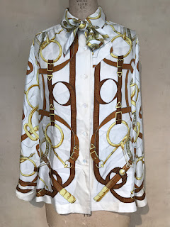 Hermes Graphic Silk Blouse