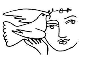 Picasso: Mädchen mit Taube.
