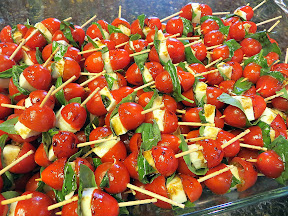 Caprese Skewers, appetizer, picnic food