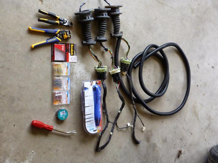 1999-2004 wj driver door boot wiring fix (diy) - jeepforum.com wj jeep door wiring harness fail
