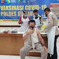 150 Anggota Polres Subang Lakukan Lounching Vaksin Tahap I Hari Kedua