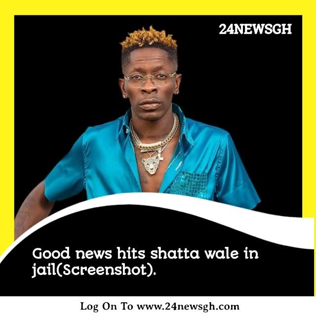 Good news hits shatta wale in jail(Screenshot)