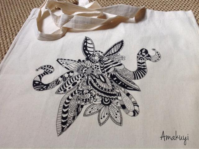 Tote-bag-Zentagle-blanco-negro