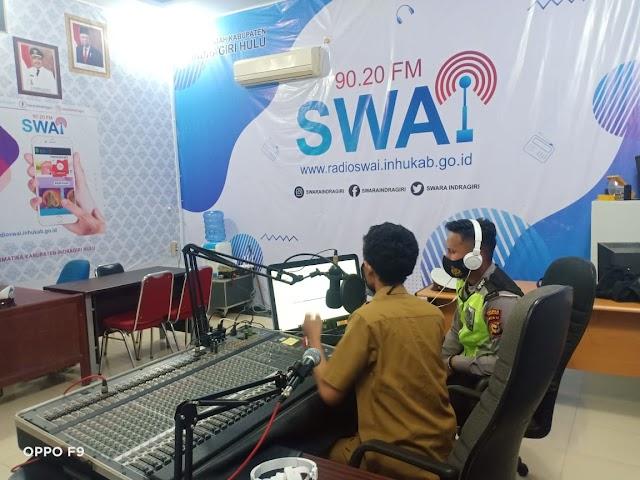 Sosialisasikan Operasi Zebra LK 2020, Polres Inhu Mengudara Lewat SWAI FM