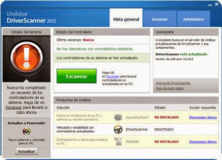 DriverScanner 2013 4.0.11.0 Portable [Multi] - Actualiza los controladores de tu PC