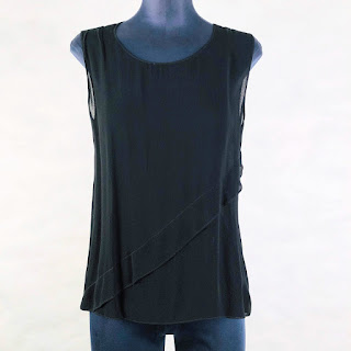 *SALE*Calvin Klein Collection Sheer Sleeveless Blouse