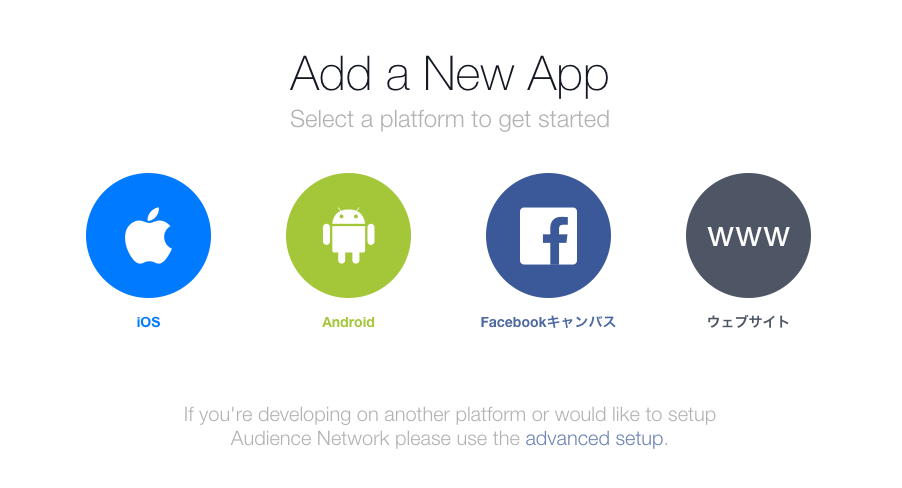「Facebookキャンバス」を選択