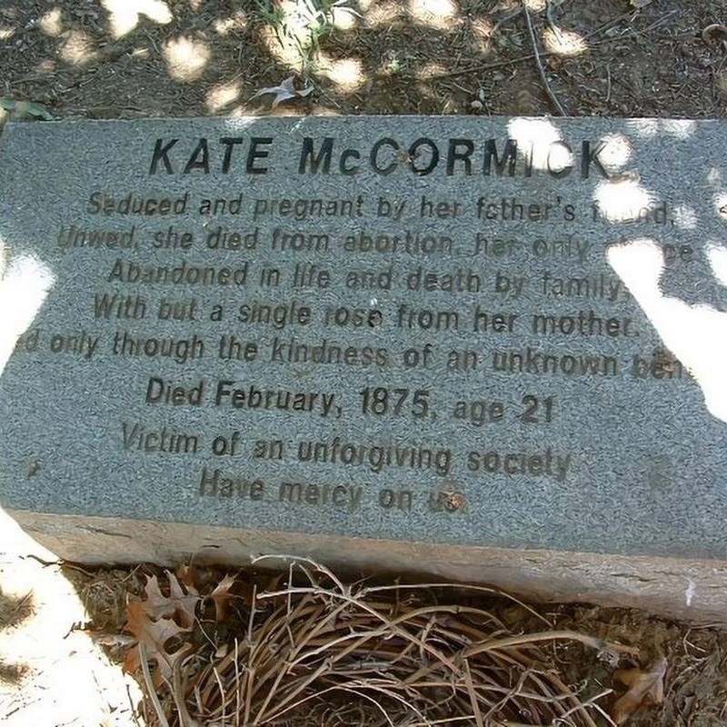 The Sad Grave of Kate McCormick