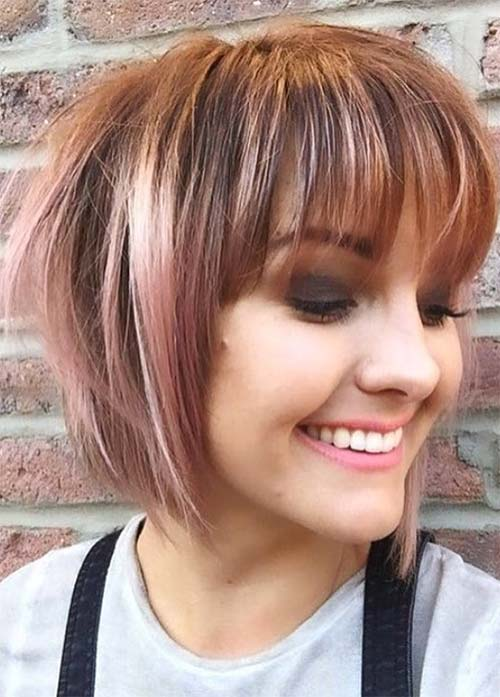 45 Incredible Short Bob Hairstyles & Haircuts With Bangs 2018