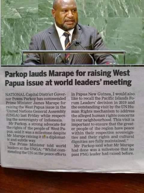 Powes Parkop.memuji Perdana Menteri James Marape