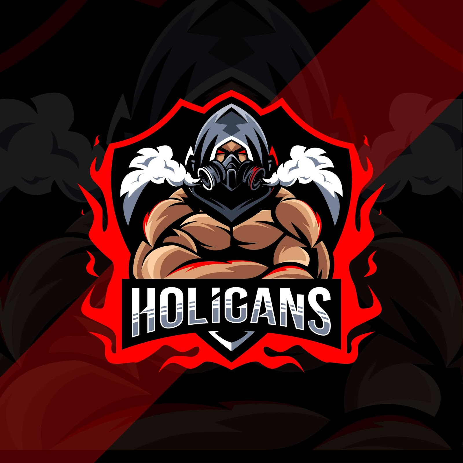 Holigans Mascot Logo Esport Design Free Download Vector CDR, AI, EPS and PNG Formats