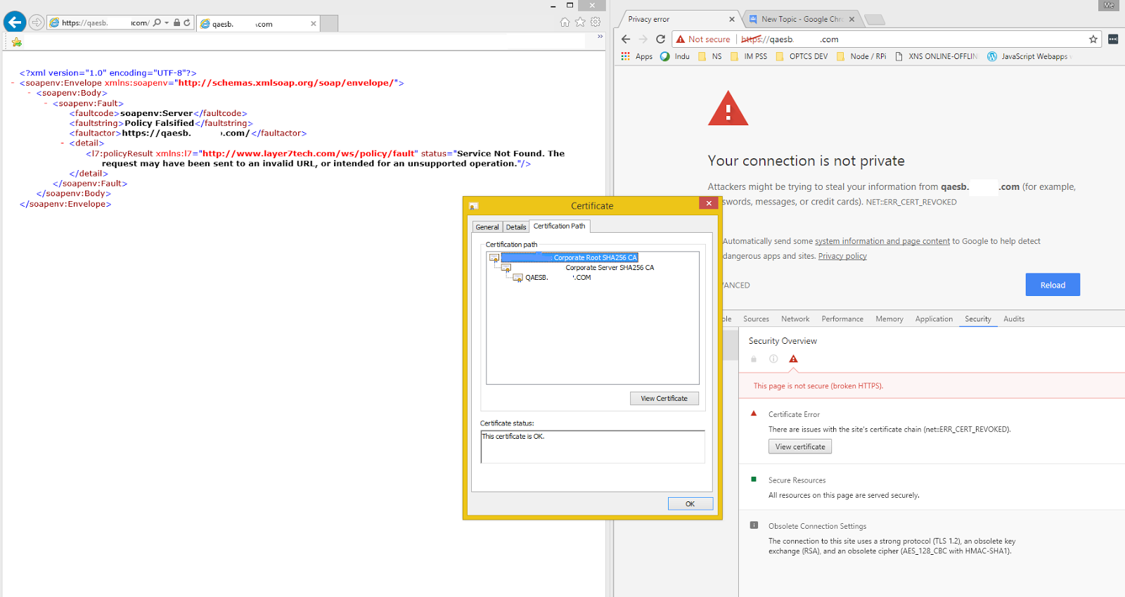 Chrome Only Certificate Error Google Product Forums