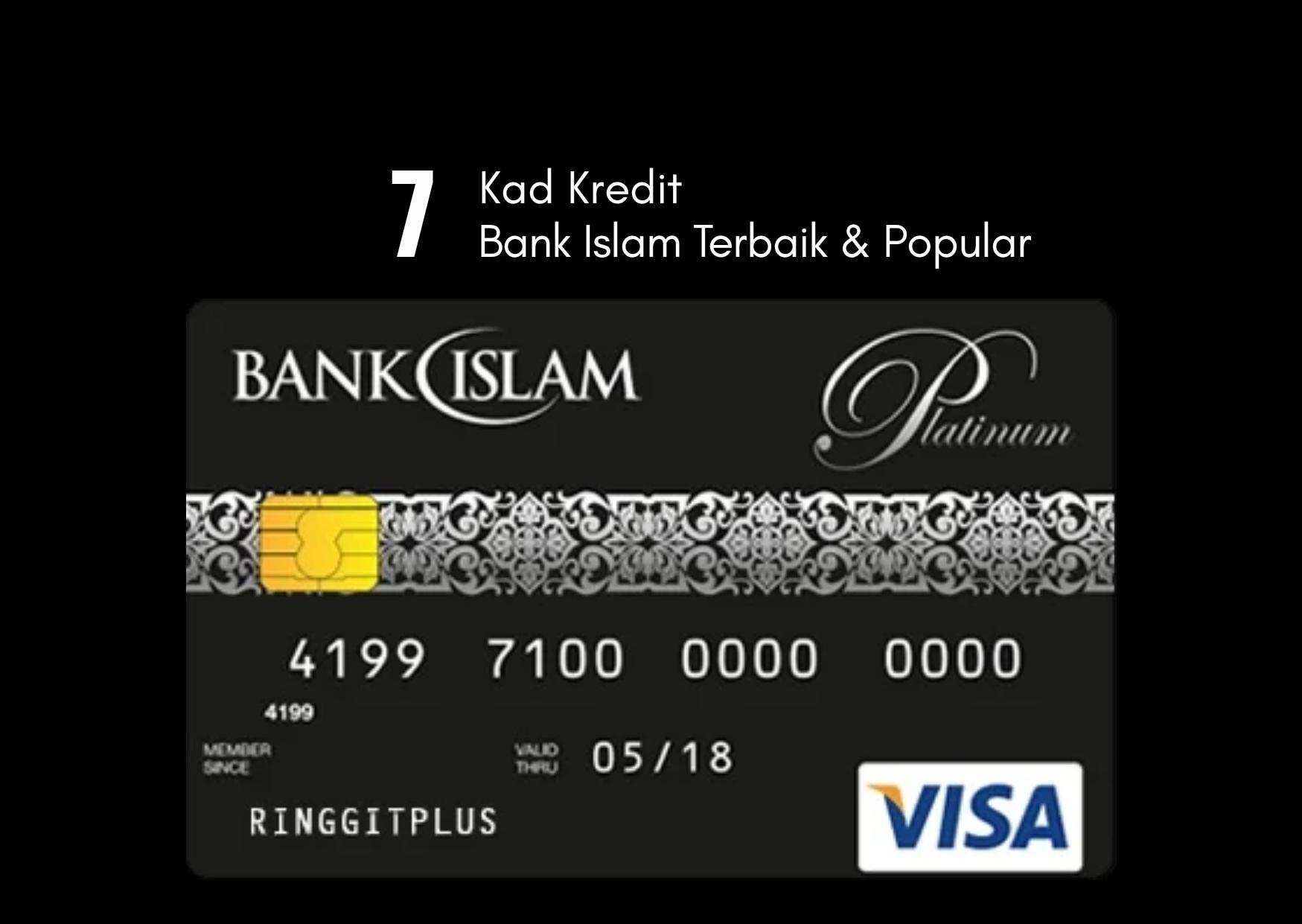 8 Kad Kredit Bank Islam terbaik