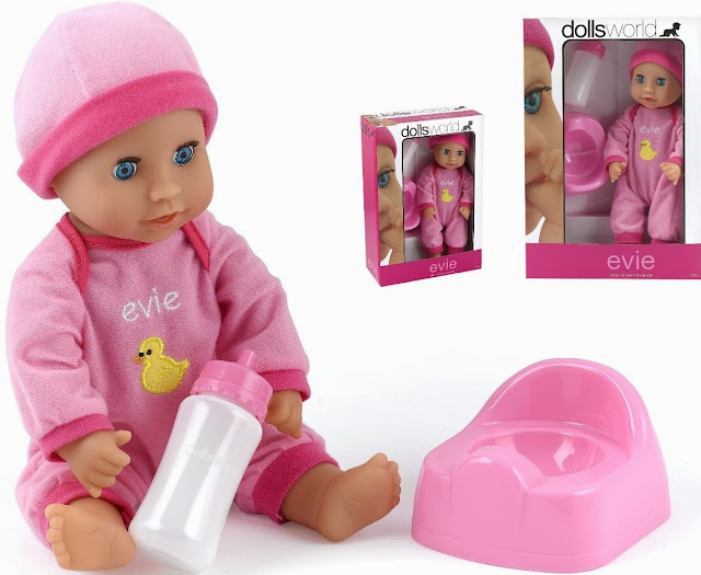 Em Bé Evie Dolls World 8542 có khả năng uống nước