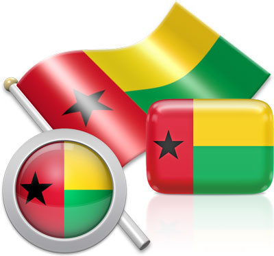 Bissau Guinean flag icons pictures collection